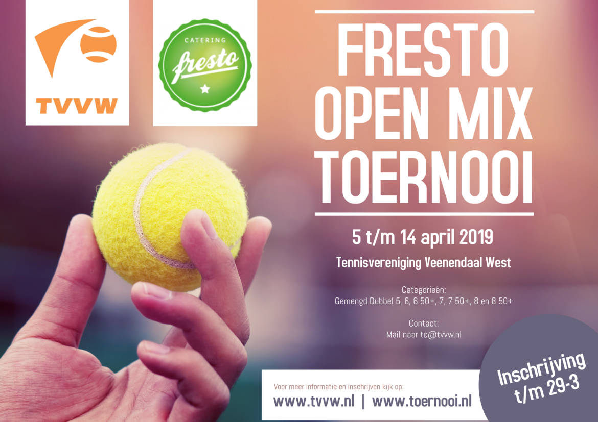 Inschrijving Open Mix Toernooi geopend