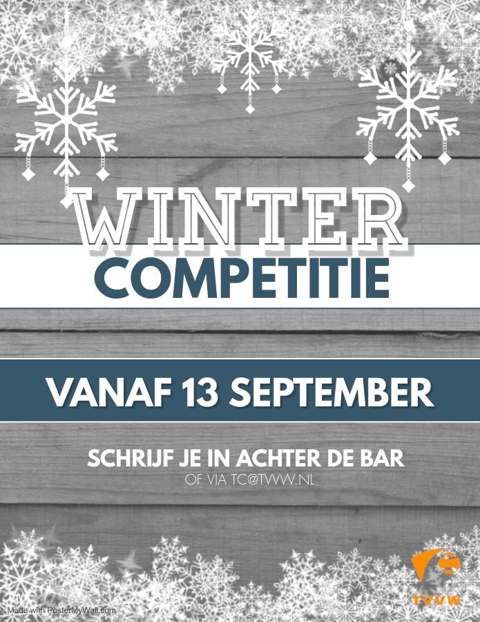 Wintercompetitie gaat binnenkort weer van start